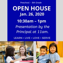OLGC School Open House: Sun. Jan. 28th 10:30-1pm