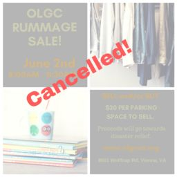 Spring Rummage Sale: Rescheduled to June 2nd