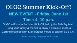 Summer Kick-Off & CornHole Tournament: June 1st