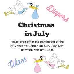 Christmas in July! July 12th 7:45am - 1pm