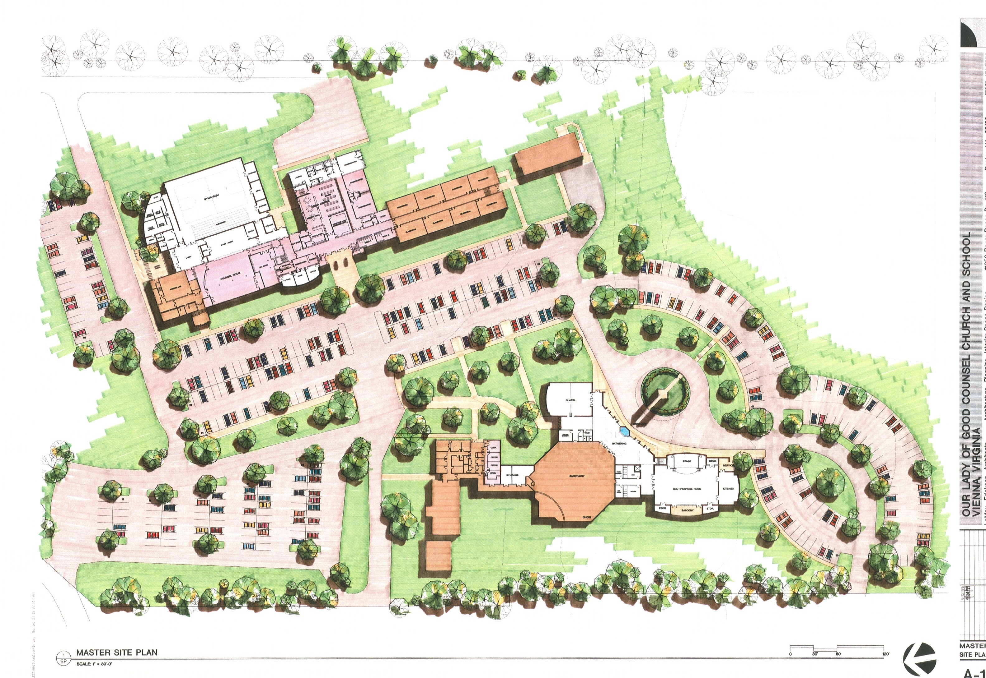 Master campus plan drawing